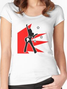 rock chick Women's Fitted Scoop T-Shirt