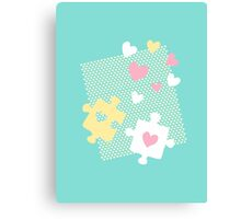 Pastel Lover's Puzzles Canvas Print