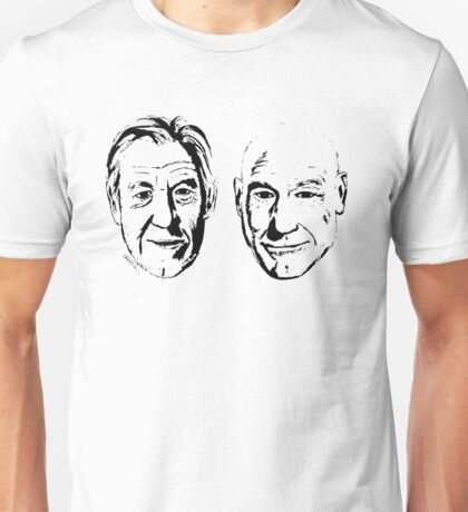 #Bestfriends - Portraits of Sir Ian McKellan and Sir Patrick Stewart Unisex T-Shirt