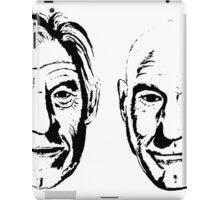 #Bestfriends - Portraits of Sir Ian McKellan and Sir Patrick Stewart iPad Case/Skin