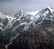 The Eiger, Monch and Jungfrau - Switzerland by David J Dionne