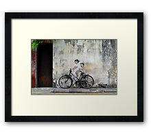 Cycling Georgetown Framed Print