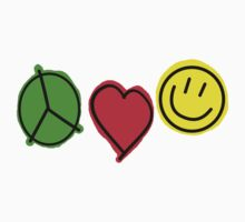 Peace Love Smiley by badkarma