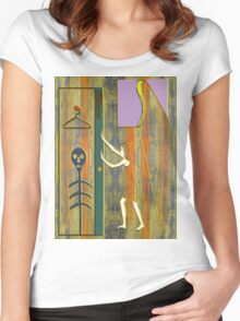 SKELETON IN THE CLOSET Women's Fitted Scoop T-Shirt