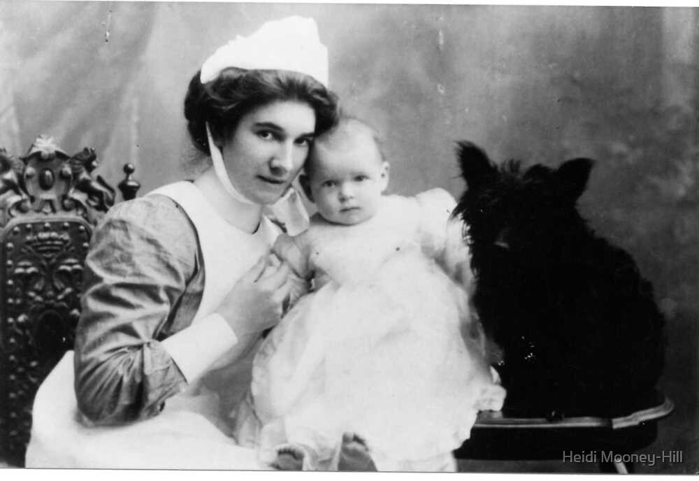 My Grandmother as a Nanny with child and Scotch Terrier by Heidi Mooney-Hill
