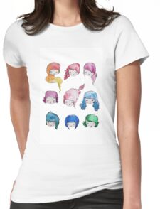 does my head look big in this? Womens Fitted T-Shirt