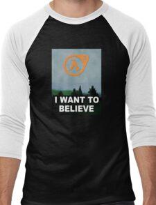 I Want To Believe - Half Life 3 Men's Baseball ¾ T-Shirt