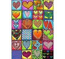 Crazy Hearts Photographic Print