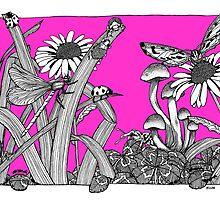 A Vivid Pink Big World by BelladonnaArt