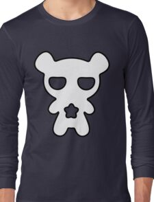 Lazy Bear Black and White Long Sleeve T-Shirt