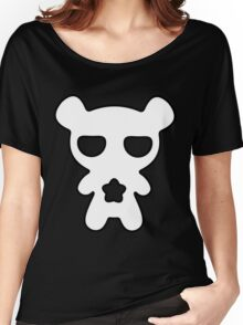 Lazy Bear Black and White Women's Relaxed Fit T-Shirt