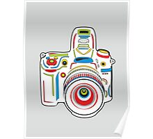 Rainbow & Grey Camera Fun Poster