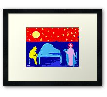 PIANO AND SONG Framed Print