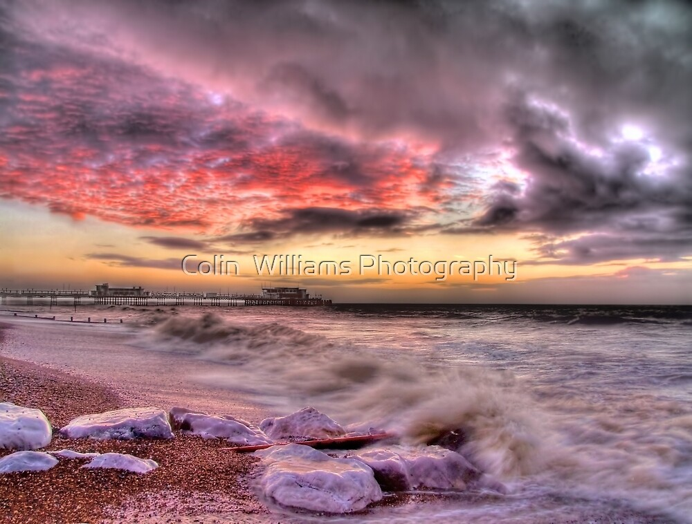 Worthing Beach Sunrise 1 - Boxing Day 2012 - HDR by Colin  Williams Photography
