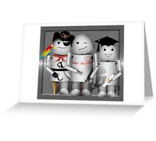 Cute Robot Trio -   Robo-x9  Greeting Card