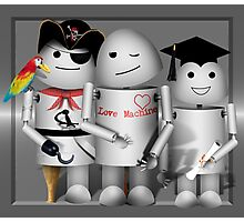 Cute Robot Trio -   Robo-x9  Photographic Print