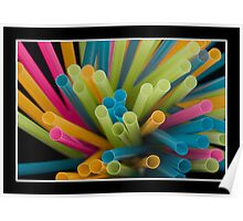 Coloured Drinking Straws Poster