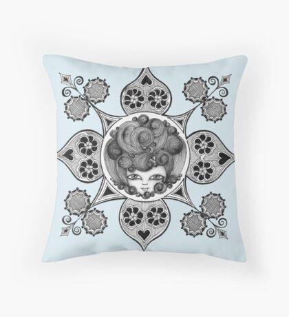 Madame Beehive Throw Pillow