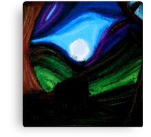 Moonlit Elephants Canvas Print