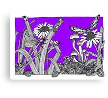 Pure Violet Big World Canvas Print
