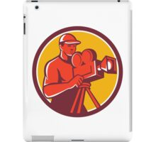 Cameraman Vintage Film Movie Camera Circle Retro iPad Case/Skin