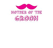 Mother of the groom in mustache wedding Photographic Print