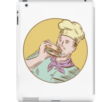 Chef Cook Eating Burger Etching iPad Case/Skin