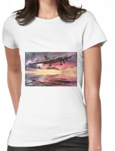 Sunset on The Vulcan - HDR Womens Fitted T-Shirt
