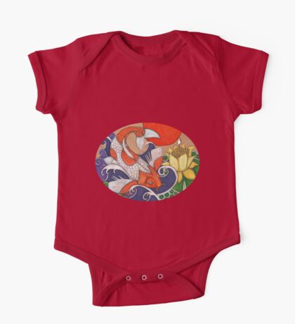 Leaping Koi One Piece - Short Sleeve