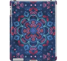 Cherry Red & Navy Blue Watercolor Floral Pattern iPad Case/Skin