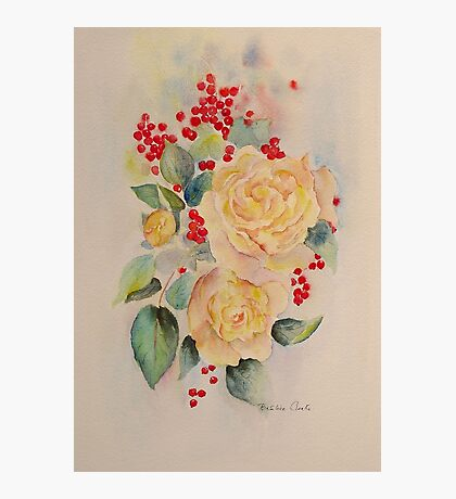 Roses and redcurrants Photographic Print