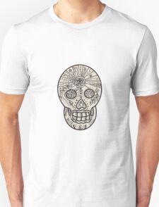 Sugar Skull Tattoo Etching T-Shirt
