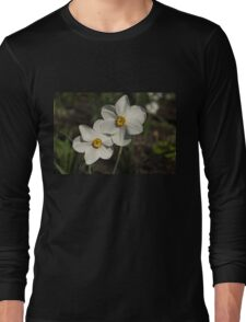 A Pair of Fragrant Poet's Daffodils, Celebrating Spring Long Sleeve T-Shirt