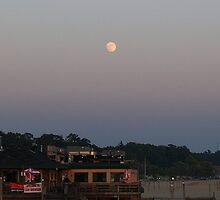 Full Moon over Captain Jack's by BarbL