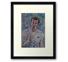 Andy Murray - Portrait 4 Framed Print