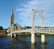 Infirmary Bridge, Inverness, Scotland. by Roy  Massicks