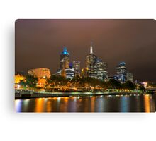 Glowing Melbourne Canvas Print