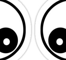 Googly Funny Cartoon Eyes - Toon T-Shirt & Top Sticker