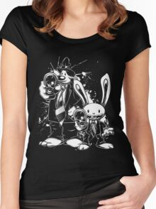 Sam & Max X Pulp Fiction (white) Women's Fitted Scoop T-Shirt