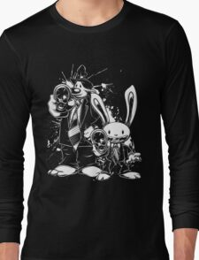 Sam & Max X Pulp Fiction (white) Long Sleeve T-Shirt