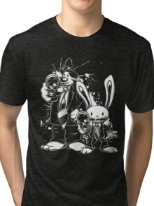 Sam & Max X Pulp Fiction (white) Tri-blend T-Shirt