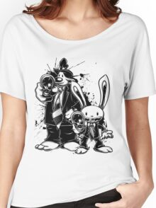 Sam & Max X Pulp Fiction (black) Women's Relaxed Fit T-Shirt
