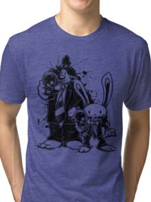 Sam & Max X Pulp Fiction (black) Tri-blend T-Shirt