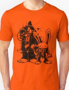 Sam & Max X Pulp Fiction (black) Unisex T-Shirt