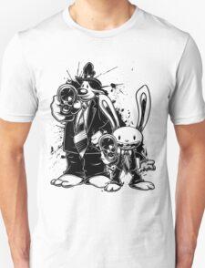 Sam & Max X Pulp Fiction (black) T-Shirt