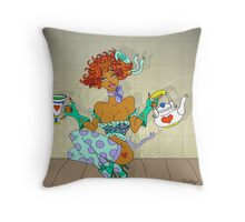 Polly put the kettle on... Throw Pillow