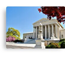 The Supreme Court in Maple and Cherry  Canvas Print