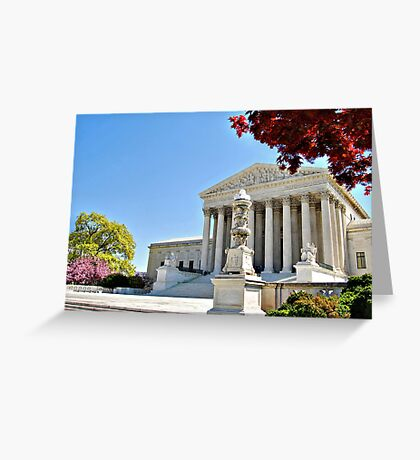 The Supreme Court in Maple and Cherry  Greeting Card