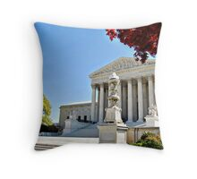 The Supreme Court in Maple and Cherry  Throw Pillow