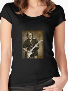 ERIC CLAPTON Women's Fitted Scoop T-Shirt